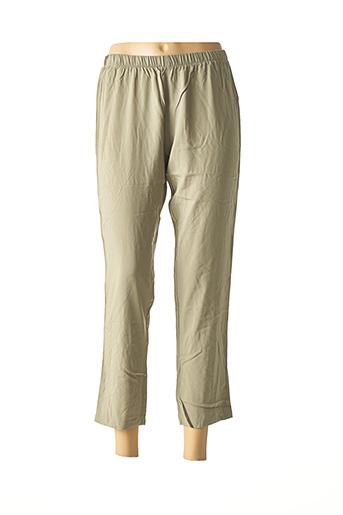 Pantalon casual vert LA STAMPA pour femme