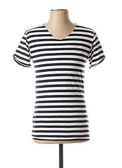 T-shirt manches courtes bleu DEEPEND pour homme
