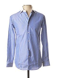 Chemise manches longues bleu VICOMTE ARTHUR pour homme