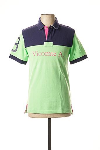 Polo manches courtes vert VICOMTE ARTHUR pour homme