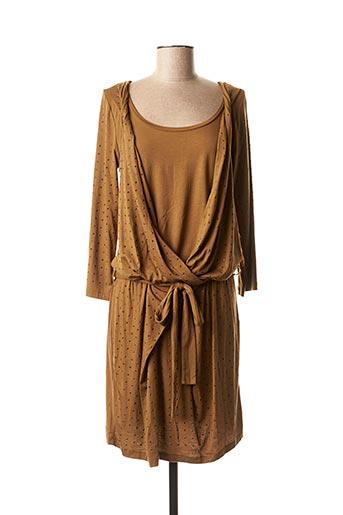 Robe mi-longue marron CKS pour femme