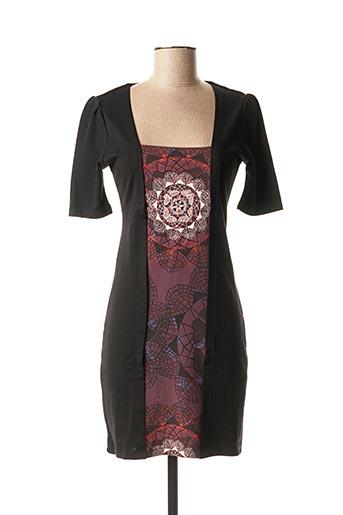 Robe mi-longue noir SMASH WEAR pour femme