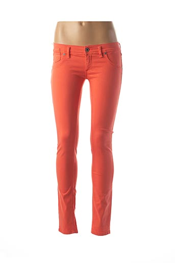 Pantalon casual orange FREESOUL pour femme