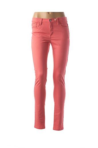 Pantalon casual orange GEISHA pour femme