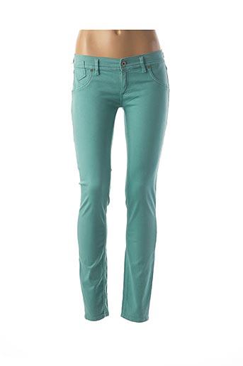 Pantalon casual vert FREESOUL pour femme