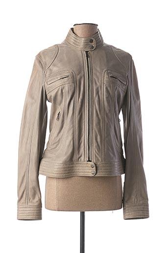 Veste en cuir gris KAPORAL pour femme