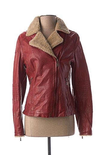Veste en cuir rouge KAPORAL pour femme