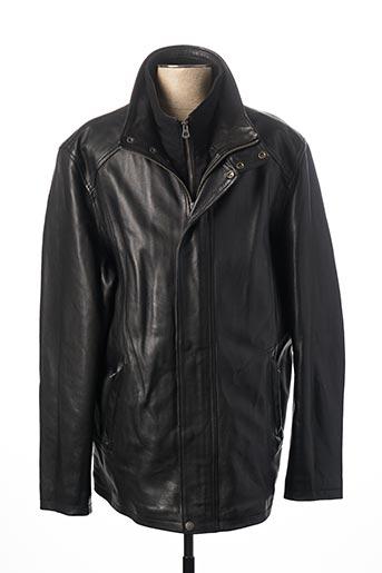 Veste en cuir noir LA CANADIENNE pour homme