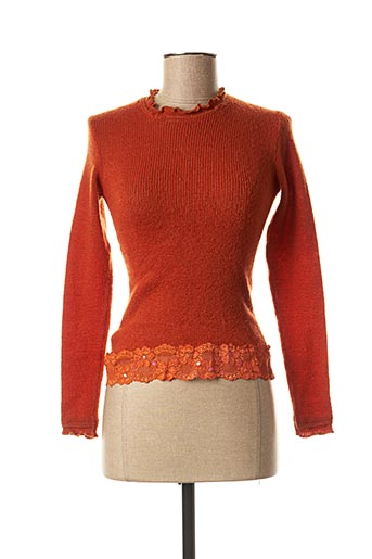 Pull col rond orange JUS D'ORANGE pour femme