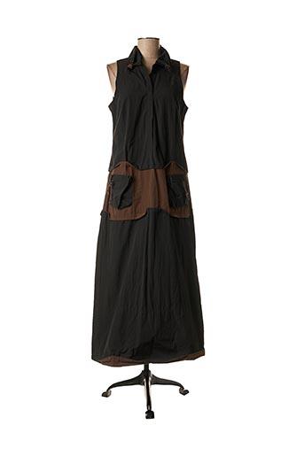 Robe longue noir LAUREN VIDAL pour femme