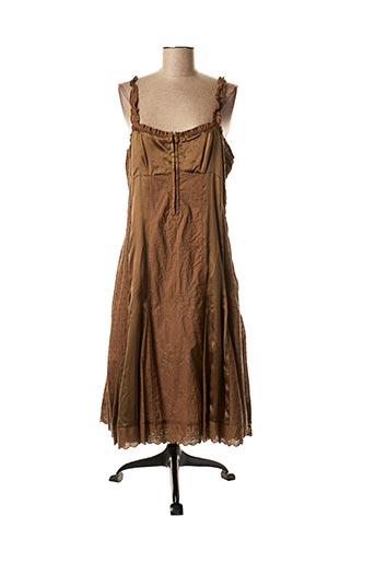 Robe mi-longue marron AP pour femme