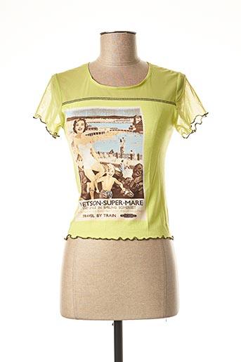 T-shirt manches courtes vert ROSA ROSAM pour femme