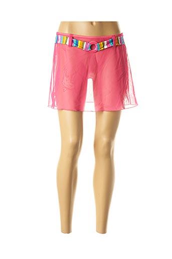 Jupe courte rose ANTIGEL pour femme