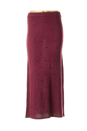Jupe longue violet LAUREN VIDAL pour femme