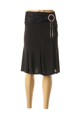 Jupe mi-longue noir JUS D'ORANGE pour femme