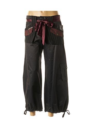 Pantalon casual noir DES FILLES A LA VANILLE pour femme
