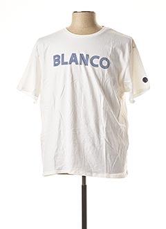 T-shirt manches courtes blanc SERGE BLANCO pour homme
