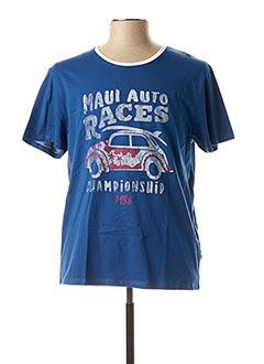 T-shirt manches courtes bleu SERGE BLANCO pour homme
