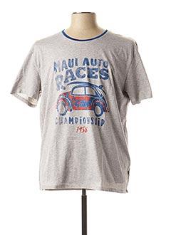T-shirt manches courtes gris SERGE BLANCO pour homme