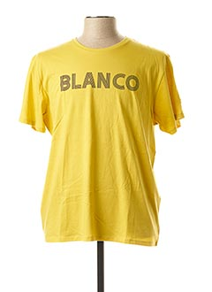 T-shirt manches courtes jaune SERGE BLANCO pour homme