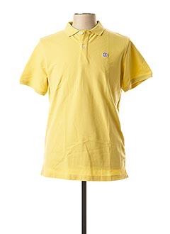 Polo manches courtes jaune SERGE BLANCO pour homme