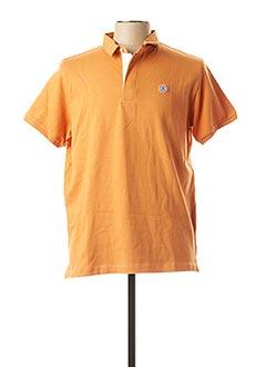 Polo manches courtes orange SERGE BLANCO pour homme
