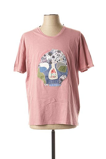 T-shirt manches courtes rose SERGE BLANCO pour homme
