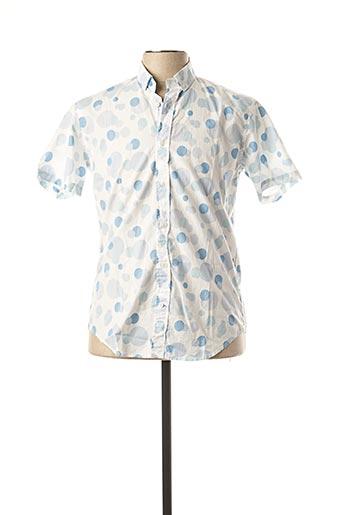 Chemise manches courtes bleu SERGE BLANCO pour homme
