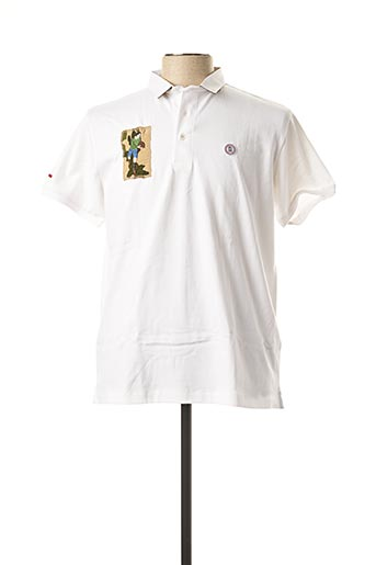 Polo manches courtes blanc SERGE BLANCO pour homme