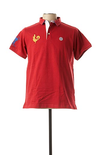 Polo manches courtes rouge SERGE BLANCO pour homme
