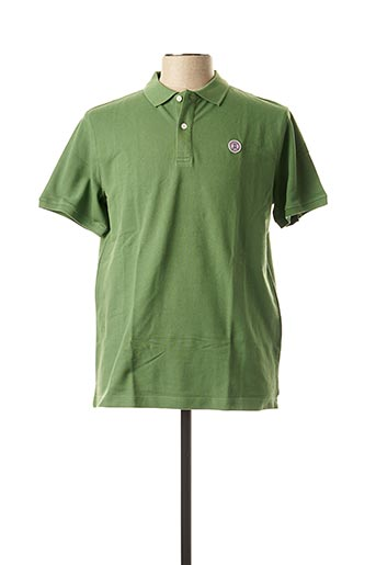 Polo manches courtes vert SERGE BLANCO pour homme