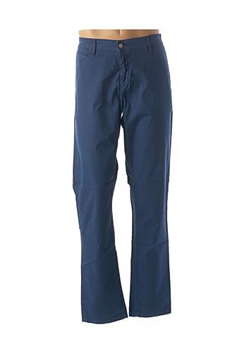 Pantalon casual bleu SERGE BLANCO pour homme