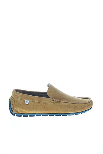 Chaussures bâteau marron SERGE BLANCO pour homme