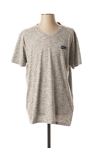 T-shirt manches courtes gris PETROL INDUSTRIES pour homme