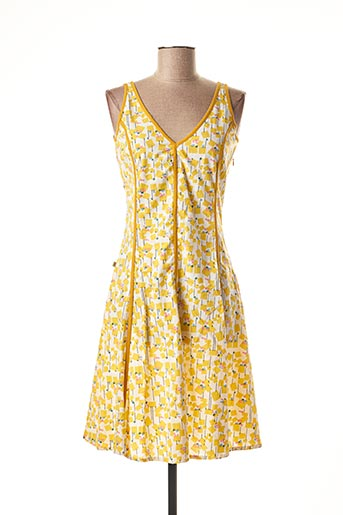 Robe mi-longue jaune BLA-BLA pour femme