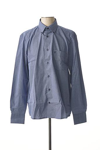 Chemise manches longues bleu SEA BARRIER pour homme