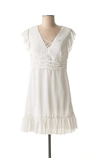 Robe mi-longue blanc LOVIE & CO pour femme