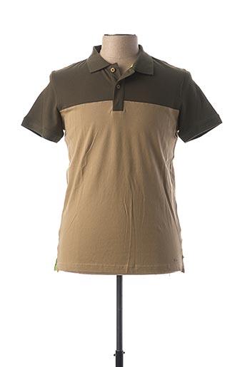Polo manches courtes vert TREZ pour homme