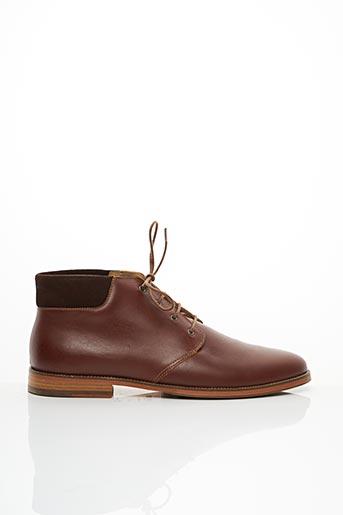 Bottines/Boots marron M.MOUSTACHE pour homme