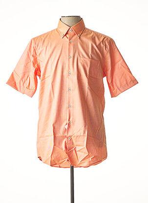 Chemise manches courtes orange SEIDEN STICKER pour homme