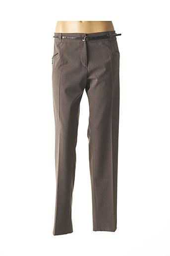 Pantalon casual gris COM ELLE pour femme