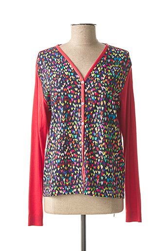 Gilet manches longues rouge MADE IN SENS pour femme