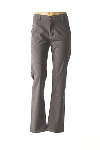 Pantalon casual gris COLBERRY pour femme