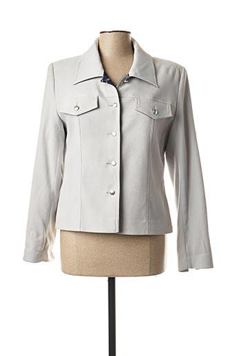 Veste casual gris CLAUDE BAUER pour femme