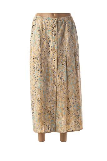 Jupe longue beige CLAUDE BAUER pour femme