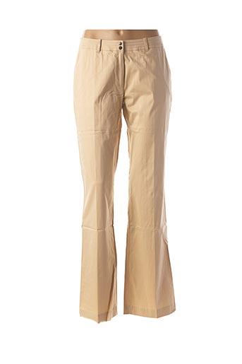 Pantalon casual beige FINNKARELIA pour femme