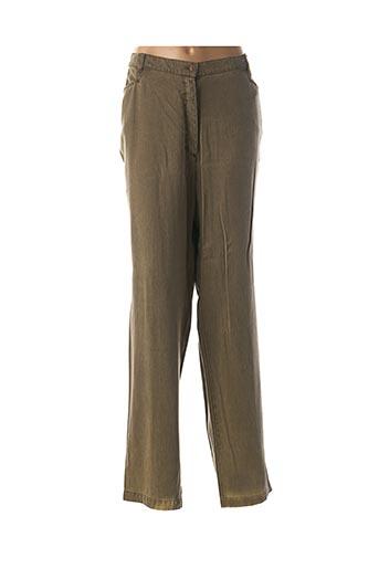 Pantalon casual vert FINNKARELIA pour femme
