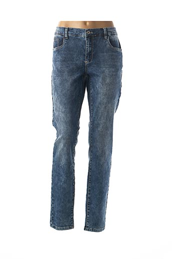 Jeans coupe slim bleu GEISHA pour femme