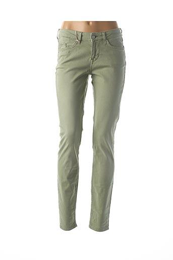 Pantalon casual vert MUSTANG pour femme