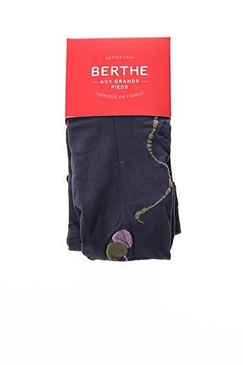 Bas violet BERTHE AUX GRANDS PIEDS pour femme